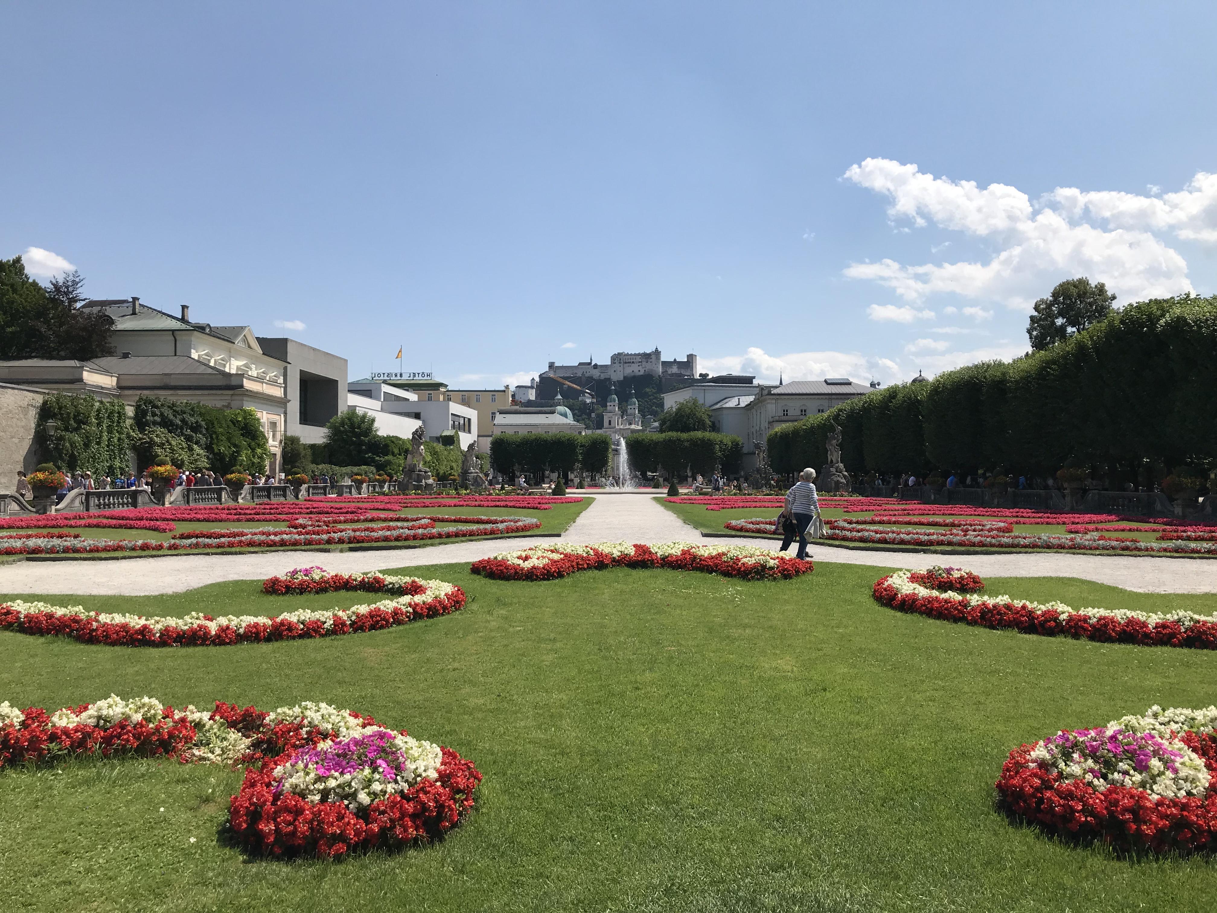 Der Garten des Schloss Mirabell in Salzburg